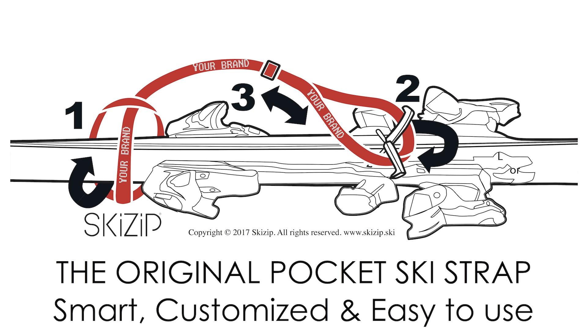 Skizip Pocket esqu/í Strap